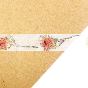 MiriKulo:rer Blush Flower Washi Tape Round Top - Japanese