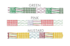 Colorful Textile Pattern 15mm Washi Tape