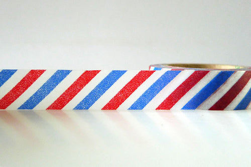 airmail washi tape red blue stripe