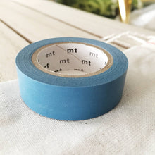 mt blue solid washi tape japanese