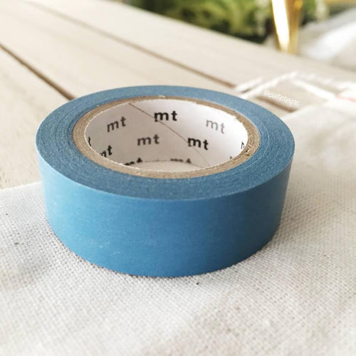 Asahanda Muted Blue MT Vibrant Solid Japanese Washi Tape