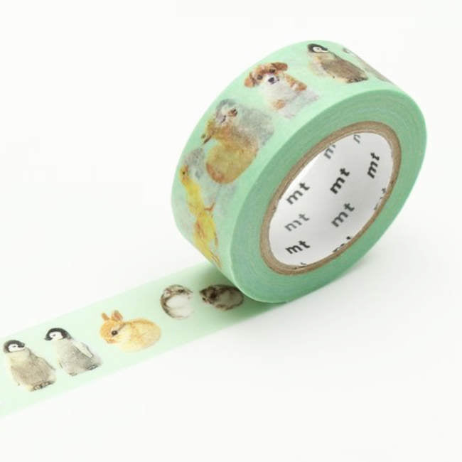 baby animals washi tape, mt ex, birthday decoration, mt masking tape