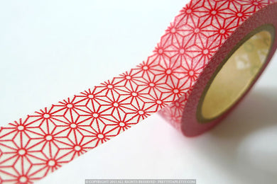 Red STAR Japanese Pattern Washi Tape