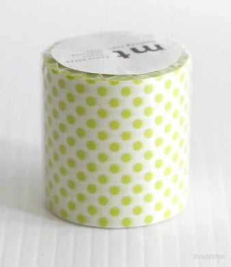 Lime Green Dots mt CASA Washi Tape 50mmx10m