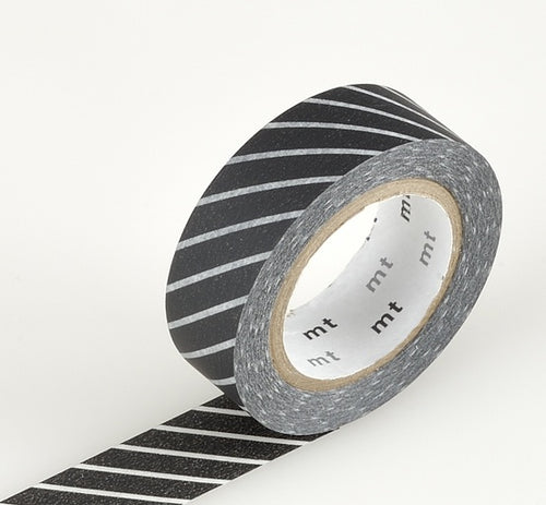 MT Thick Thin Black Stripe Washi Tape