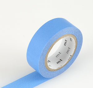 Blue Washi Tape MT Vibrant Solid Japanese