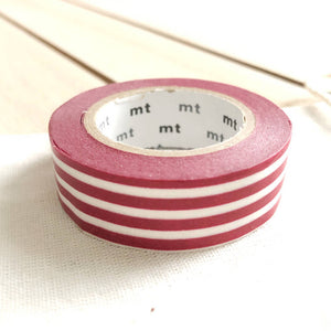 red stripe washi tape, border red striped washi tapes