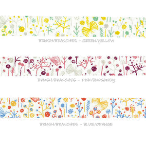flower branches washi tape, Japanese washi tapes