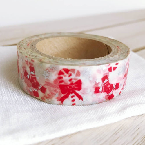 christmas candy cane washi tape red