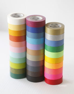 solid washi tape, mt solid color washi tapes