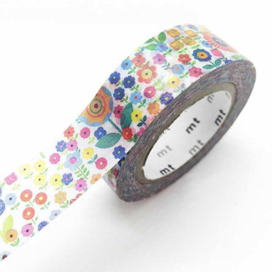 colorful flower washi tape, floral