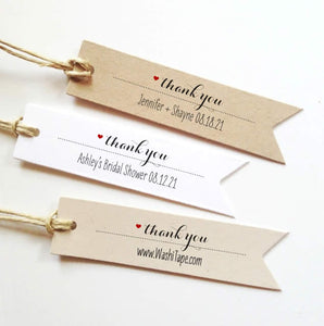 Personalized Thank You Tag, Custom Wedding Thank You Tags, Gift Tags, Bridal Shower, Businesses