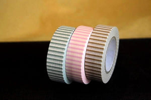 Vertical Stripe Japanese Washi Tape 15mm (D)