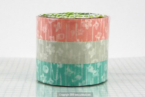 Small Flowers Japanese Washi Tape Floral Pattern