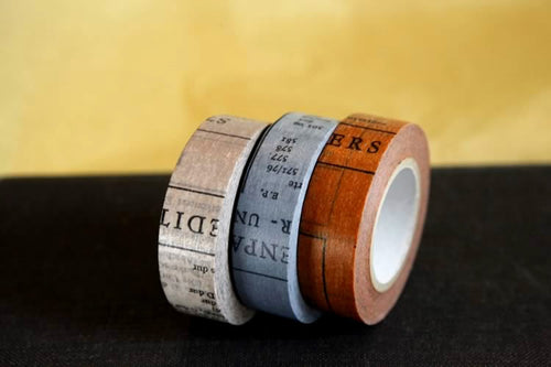Old book Washi Tape Japanese