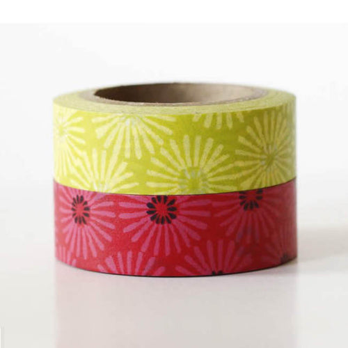 floral washi tape, diasy washi tapes