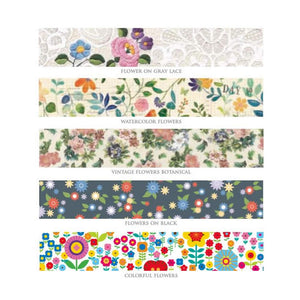floral washi tape, flowers washi tapes, mt masking tape