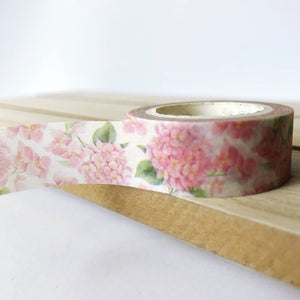 Pink Hydrangea Washi Tape - Flowers Floral
