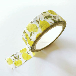 Yellow Lemon Washi Tape - Mini Roll