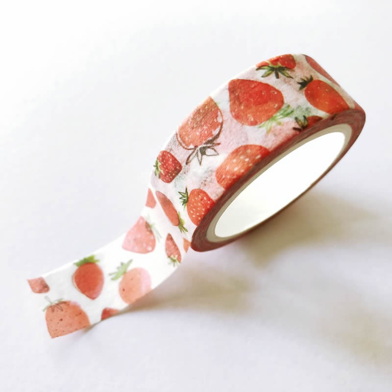 Strawberry Washi Tape - Mini Roll
