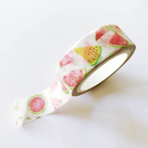 Watermelon Washi Tape - Mini Roll