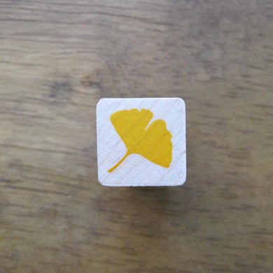 gingko leaf rubber stamp, gingko leaf craft stamps
