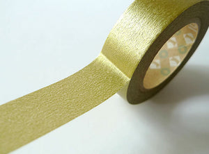 gold solid washi tape mt