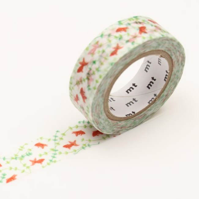 goldfish washi tape, gold fish tape