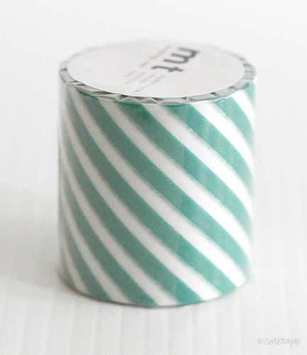 Thick Green Stripe CASA Washi Tape MT 50mmx10m (Discontinued)