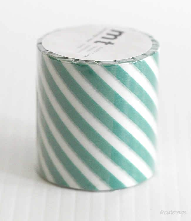 Thick Green Stripe CASA Washi Tape MT 50mmx10m