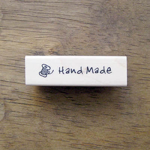 hand made spool of thread rubber stamp