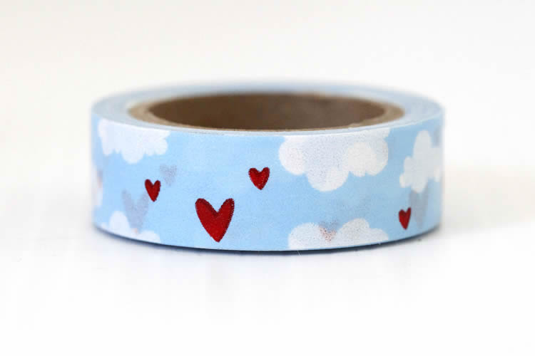 cute heart cloud washi tape
