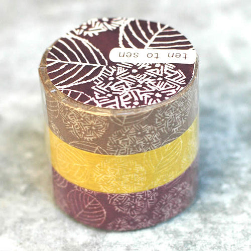Hydrangea Washi Tape Ten to Sen, Flowers, Leaves - Japanese