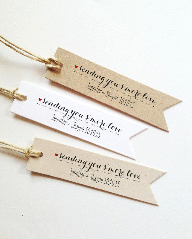 Smore Love Tag wedding favors for guest sending you smore love tags Custom Smores Tags Smore Favor Tags wedding favor Smores Favor