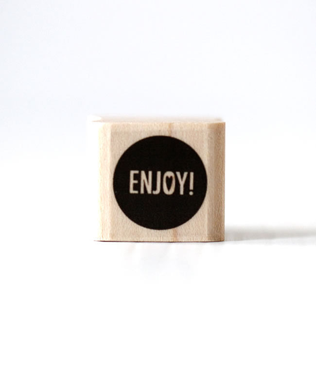 Enjoy Stamp Heart Enjoy Rubber Stamp Wooden Rubber Stamp