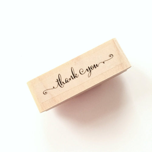 Wedding Thank you rubber stamp Calligraphy Style