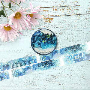 Insomnia Washi Tape Night Blue Round Top - Japanese