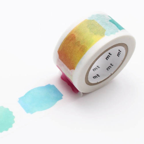 watercolor label washi tape mt