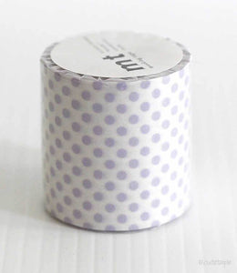 Light Purple Dots mt CASA Washi Tape 50mmx10m (Discontinued)