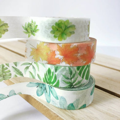 Leaves washi tape, Leaf, Plants Washi Tape