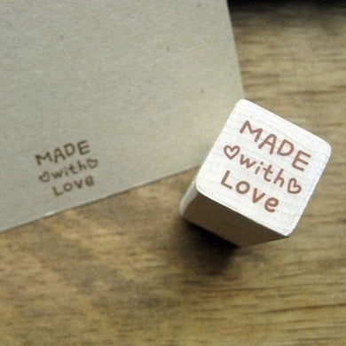 made with love stamp, made with love hearts craft rubber stamps