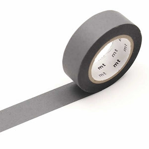 Matte Gray Washi Tape Vibrant Solid mt Japanese