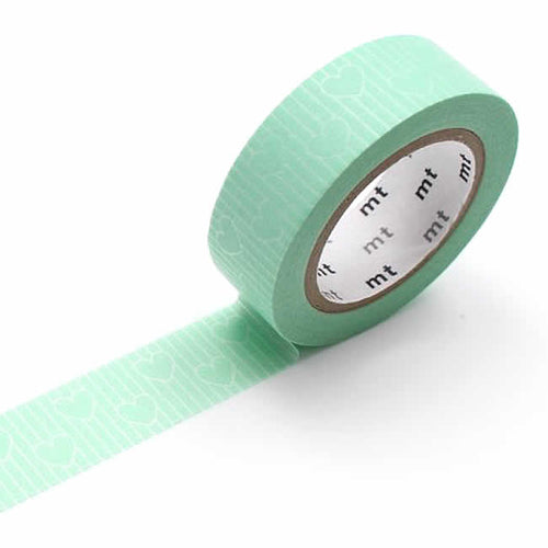 mt Mint Line Hearts Washi Tape mt Japanese