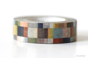 MT Mosaic Greyish Washi Tape