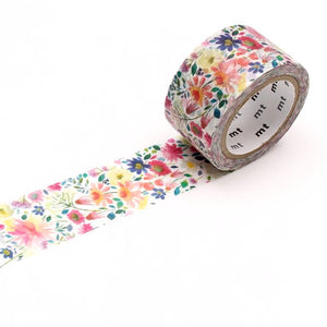 mt x bluebellgray Zinnia Floral Washi Tape Japanese 24mm×7m