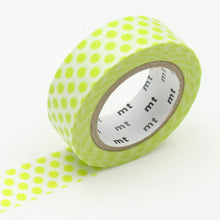 lime green dots washi tape japanese