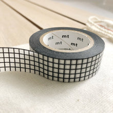 black and white grid washi tape for journals
