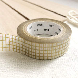 gold grid washi tape