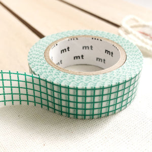 emerald green grid washi tape for journal planner