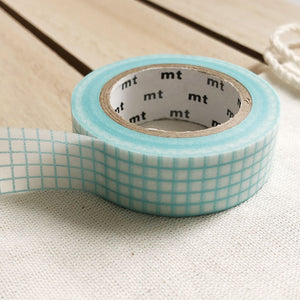light blue grid washi tape for planners Journals